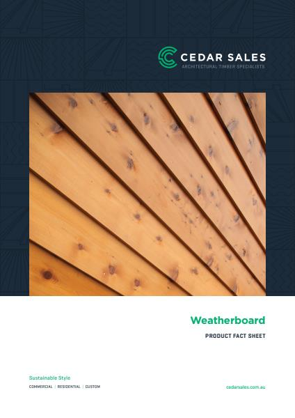 Weatherboard cladding fact sheet