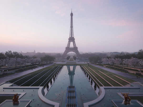 Eiffel Tower redesign pools