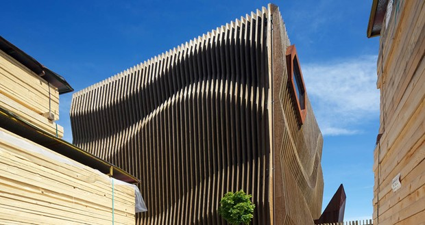 Four creative facades that use timber differently : Architecture And Design