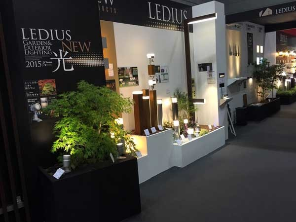 Ever Artwood posts with integrated lights showcased at EXE Fair, Osaka