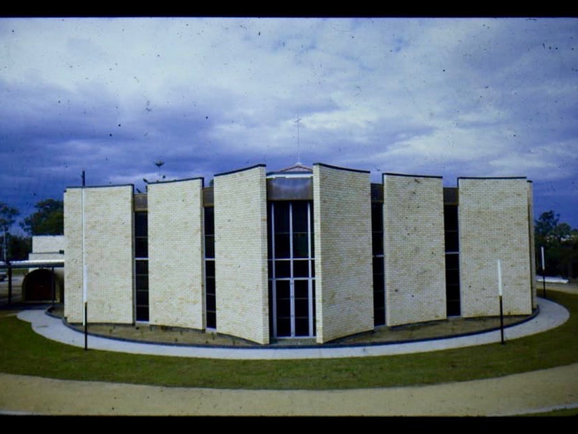 Good Shepherd Chapel (c.1969, architect: A. Ian Ferrier) in Mitchelton, Brisbane, was demolished in 2004. Image: Ferrier Slide Collection, used with permission, author-provided