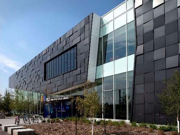 Dri-Design was used to create this unique textured facade at Edmonton Public Library in Alberta, Canada