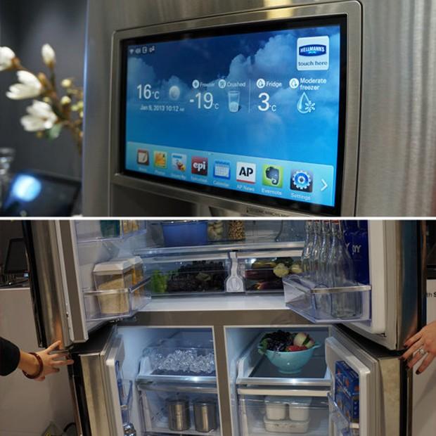 samsung tv refrigerator. samsung\u0027s smart series refrigerator samsung tv t