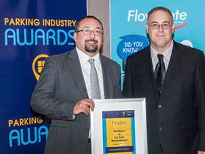 Flowcrete's 'Excellence in Car Park Refurbishment' award was presented by Flowcrete Australia Manager Tony Di Girolamo to Luxmoore Parking and Safety