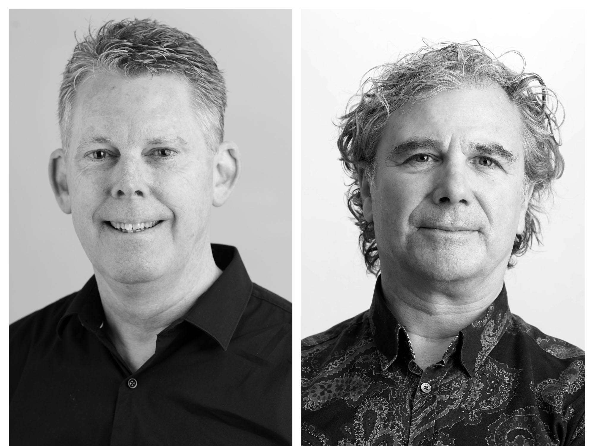 Architectus has further grown its leadership team following the appointment of two new principals, Andrew Shields (right) and Sean Bett (left). Image: Supplied