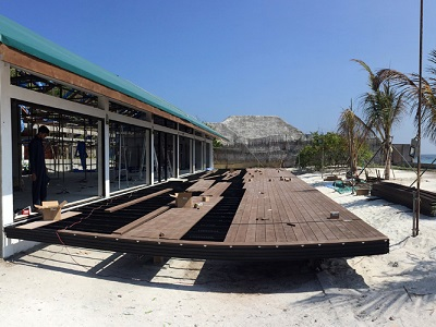 Outdure framing and decking at The Sheraton Maldives