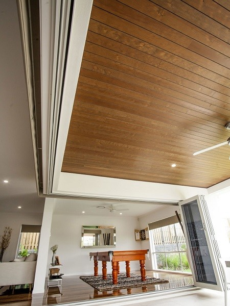 Expresswood panelling at Indigo Homes' Rochedale display home