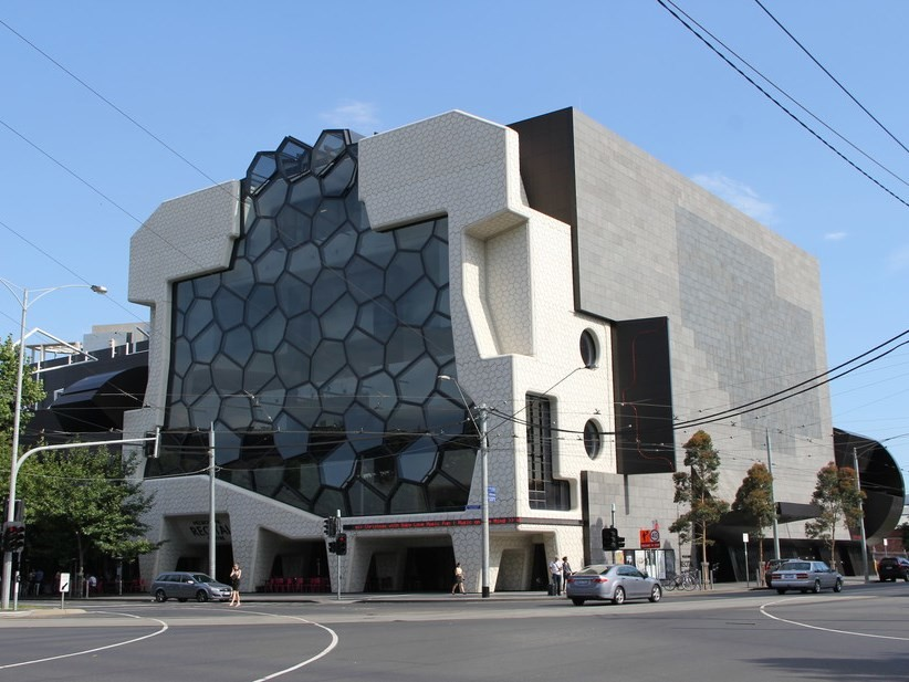 The Melbourne Recital Centre, which is derived from polystyrene packaging. Wikimedia Commons