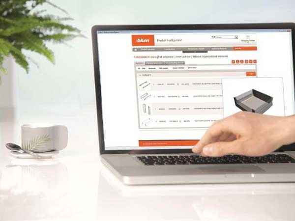 Blum's Online Product Configurator (Photo by Blum)