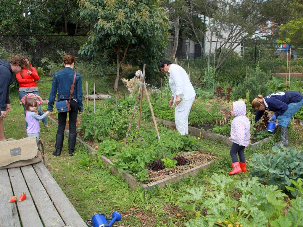 Third places are most effective when, like Waverley Community Garden in Sydney, they appeal to people of all ages and backgrounds. Image: d-olwen-dee/flickr, CC BY