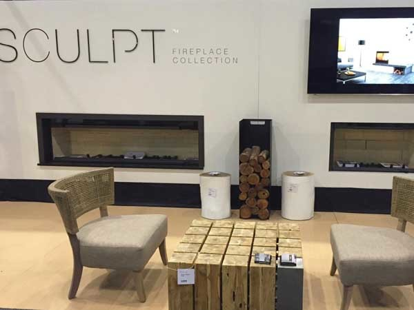 Sculpt premiered their luxury fireplace collection at the 2016 HIA Melbourne Homeshow