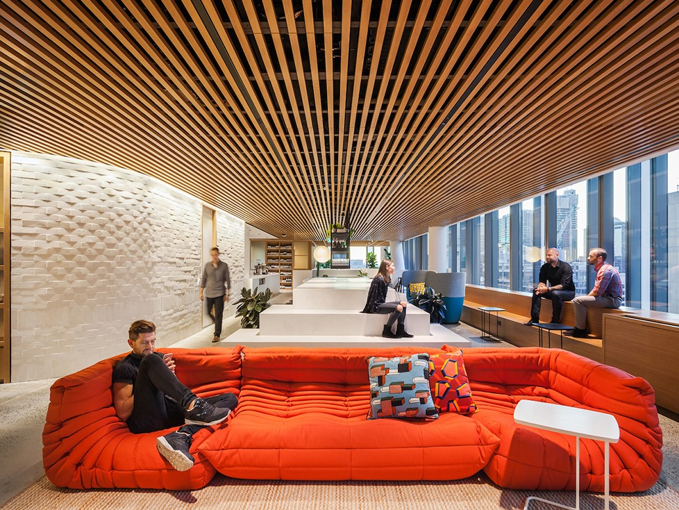 Dropbox Sydney by Gensler will be one of three case studies presented at Work Place / Work Life forum. Image: Gensler
