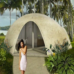Dome Shaped Binishell Homes Constructed From Inflatable