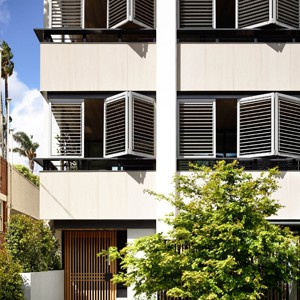 Warm Materiality Feature At New Melbourne Apartments By