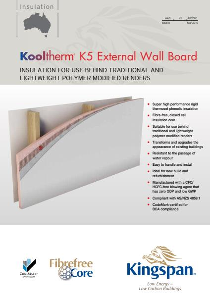 Kooltherm K5 External Wall Board brochure