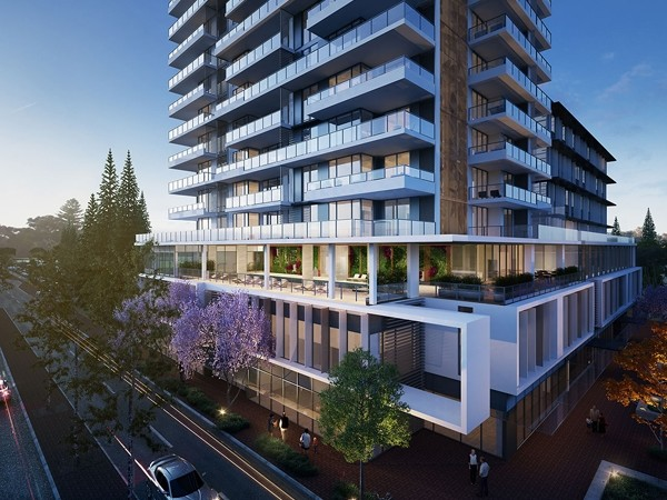 New hassell building is tallest residential tower to for Building designers perth